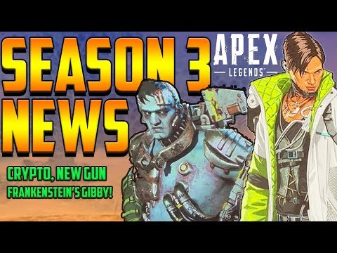 APEX LEGENDS SEASON 3 NEWS! Charge Rifle, Crypto, Gibraltar Zombie Skin, Halloween Theme?