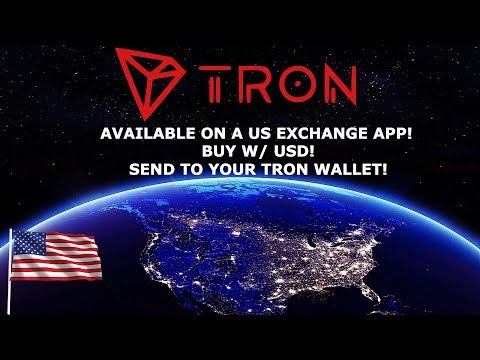 TRON TRX IS AVAILBLE ON A US EXCHANGE APP! BITTORRENT LIVE!