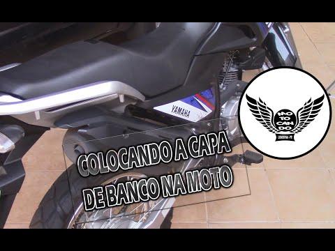Colocando capa térmica no banco da moto / XTZ Crosser 150