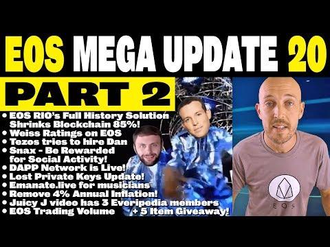 ? EOS Mega Update 20 (Part 2 of 2): Tezos & Dan, Emanate, Hyperion,Snax, DappNetwork, Constitution