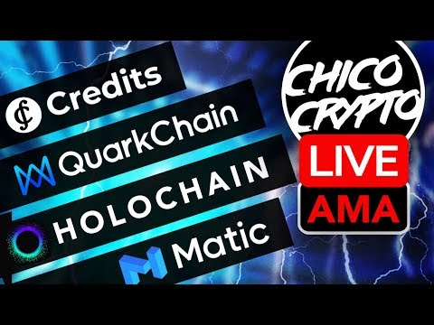 Live AMA: Credits, Matic Network, Holochain & Quarkchain: The Future of Blockchain Technology