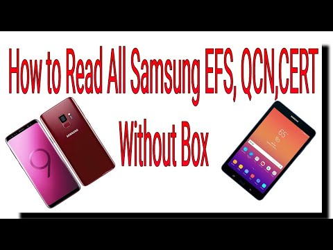 Samsung Backup  read efs qcn cert all model  2019 100% tested