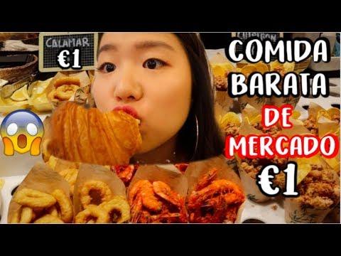 Comida BARATA de MERCADO en España  La Boquería, BCN  Cocochickyy 