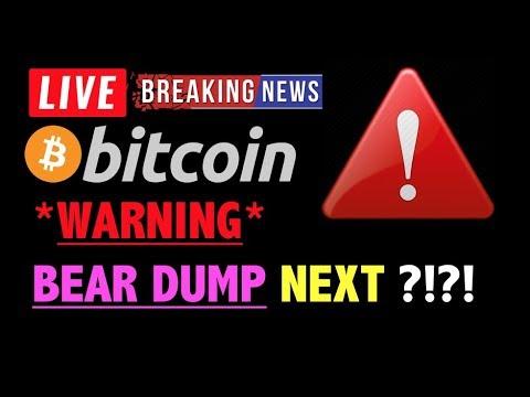 Bitcoin *WARNING* BEAR DUMP COMING?❗️LIVE Crypto Trading Analysis TA & BTC Cryptocurrency Price News