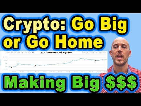 🔵 Crypto: Go Big or Go Home – Making Big Money with Crypto – Thinking Big – Can Crypto be Stopped??