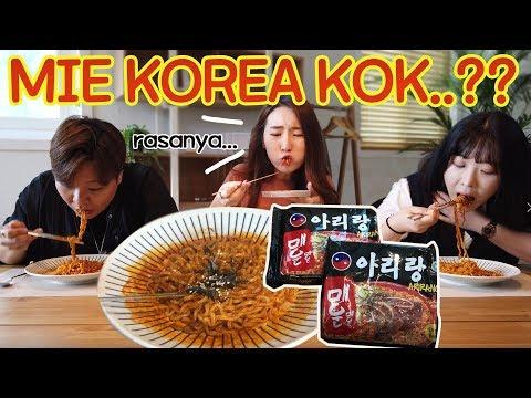 [REAKSI]MIE KOREA YANG NGGAK ADA DI KOREA?/MUKBANG MIE ARIRANG/한국엔 없는 한국매운라면 먹방