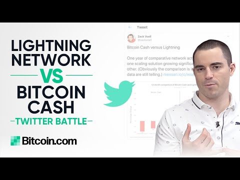 Lightning Network vs Bitcoin Cash Statistics Battle on Twitter