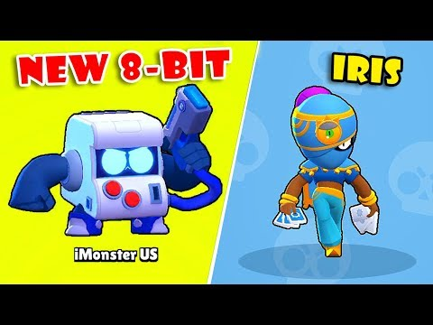 NEW UPDATE!! UNLOCKED FREE NEW 8-BIT BRAWLER! GOT SKIN IRIS TARA In BRAWL STARS