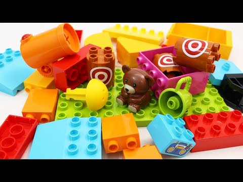 Building Blocks Toys for Children Fire the Cannon and Win the Teddy Bear