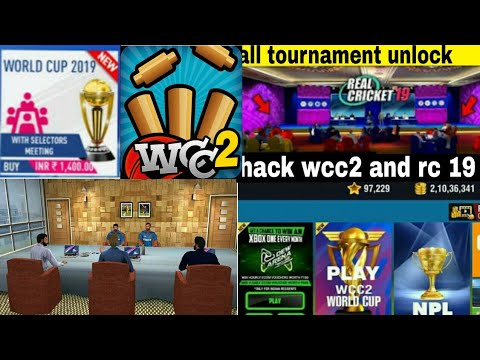 would cricket champions 2 and real cricket 19 hack🤔|Unlimited coin😍|rc 19 unlock all tournament |