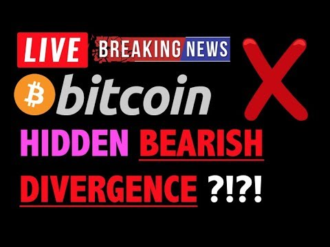 Bitcoin HIDDEN BEARISH DIVERGENCE?❗️LIVE Crypto Trading Analysis TA & BTC Cryptocurrency Price News