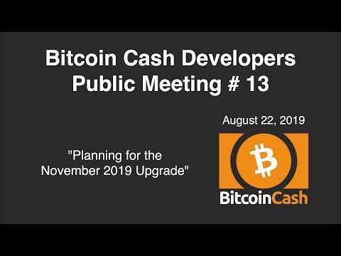 Bitcoin Cash Development video meeting #13 – August 22, 2019
