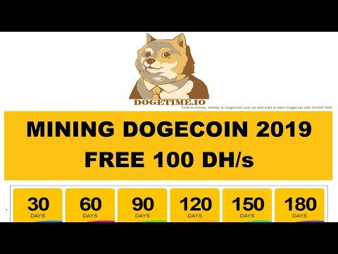 BARU! DOGETIME – CLOUD MINING DOGECOIN FREE 100 DH/s
