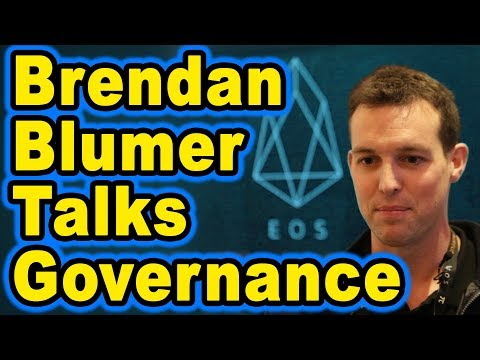🔵 Brendan Blumer on EOS governance, Vote Buying, 1 token 1 vote, Exchanges,Colin Talks Crypto Proxy