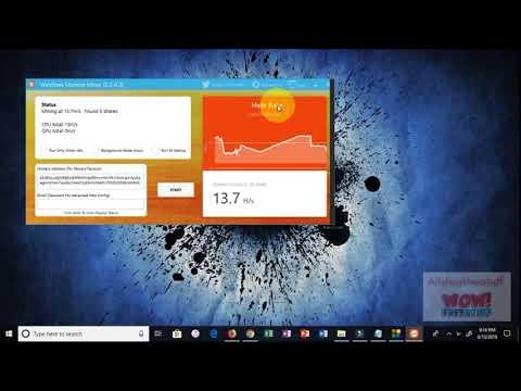 Mine XMR Monero with you PC Computer Laptop in windows