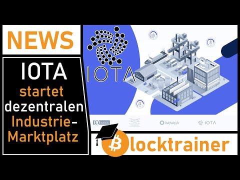 IOTA startet dezentralen Industrie-Marktplatz! DAS ist eine News!