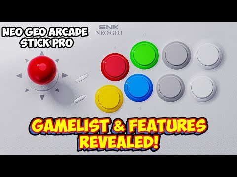 SNK Neo Geo Arcade Stick Pro Gamelist & Features Revealed!