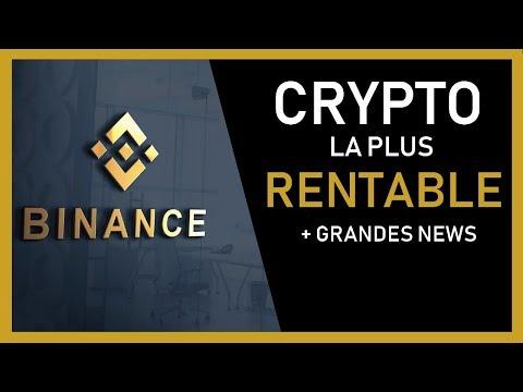 Binance coin : Crypto la + RENTABLE (Grandes news) BNB