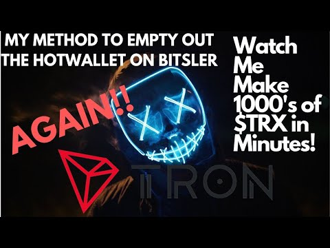 Emptying out several thousand more Tron coins from the Bitsler.win Hotwallet