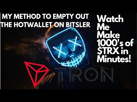 Watch me EMPTY out the Tron coin hotwallet on Bitsler.win