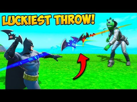 *WORLDS LUCKIEST* BATARANG THROW!! – Fortnite Funny Fails and WTF Moments! #690