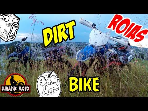 ▶Trilha de Motocross   Dirt Bike com os Roias   Morro do Desafio   XTZ 125 – Jurassic Moto