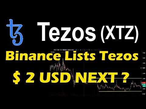 TEZOS COIN TOUCH 2 USD ? NOW LISTED BINANCE  – TEZOS  PRICE PREDICTION #tezos wallet #LiveDayTrader