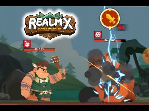 """""""RealmX"""" (a mobile game with a built in Bitcoin Cash wallet) Gameplay/Review"""