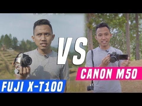 FUJI X-T100 vs Canon EOS M50 ? Mirrorless Perbandingan foto & video instagram & youtuber fujifilm