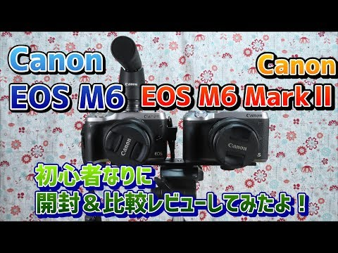 Canon EOS M6 MarkⅡ~開封レビュー!カメラ初心者なりの比較~