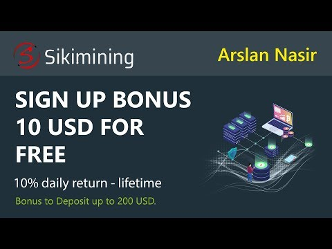 SikiMining Limited | New Trusted Bitcoin Mining Site | Signup Bonus 10 USD Live Proof in Urdu Hindi