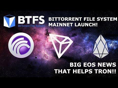TRON TRX BTFS MAINNET LAUNCH! BIG EOS NEWS THAT HELPS TRON!!