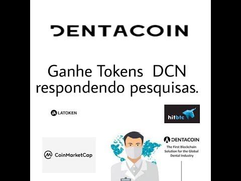 Dentacoin – Ganhe vários tokens DCN respondendo pesquisas.
