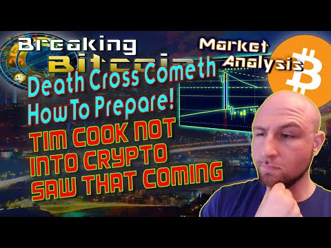 """Bitcoin Death Cross Looming?  Apple Says No To Cryptocurrency – Digital USD """"Inevitable"""" Says Fed!"""