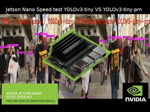 Jetson Nano Speed test YOLOv3-tiny VS YOLOv3-tiny-prn Deep Learning #9