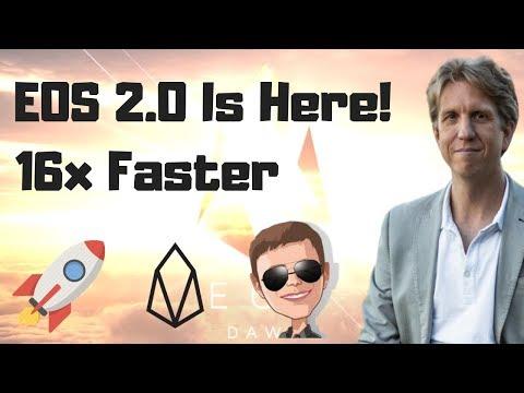 EOS 2.0 IS HERE! 16x Speed Improvement Over EOSIO 1.0