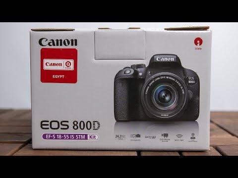 الكاميرا المثالية من كانون في الفئة المتوسطة Canon EOS 800D Unboxing