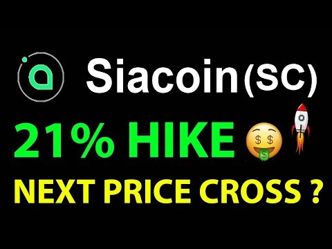 SIACOIN BUY NOW ? 20 % HIKE – SIACOIN SC PRICE PREDICTION  #XRPNEWS #LiveDayTrader 9 OCT 2019