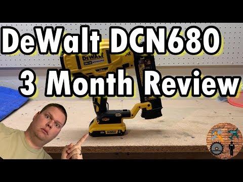 3 Month Review: DeWalt DCN 680 Cordless Brad Nailer