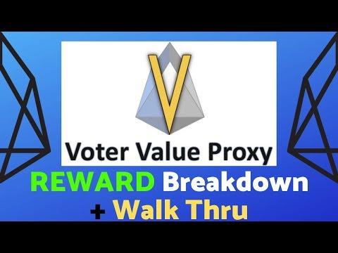 Value Proxy EOS Rewards + Walk Thru