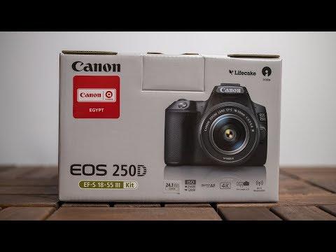 أصغر وأخف كاميرا احترافية من كانون Canon EOS 250D Unboxing