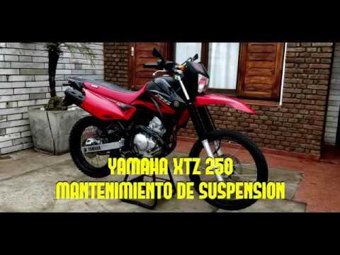 Yamaha xtz 250 Cambio de reten y aceite de suspensión