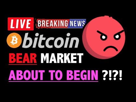 Bitcoin BEAR MARKET IS ABOUT TO BEGIN?❗️LIVE Crypto Analysis TA & BTC Cryptocurrency Price News 2019