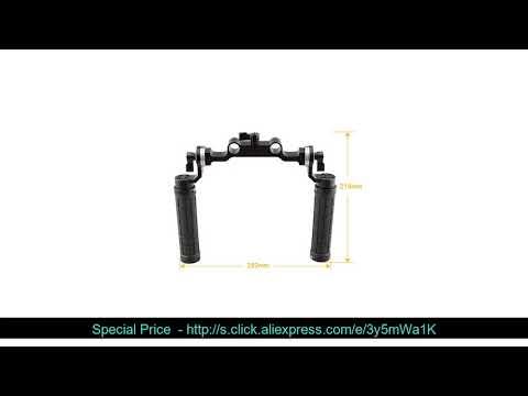 ⚡️ CAMVATE Rosette Handgrips with 15mm Rod Clamp Railblock with ARRI Rosette for DSLR Shoulder Supp