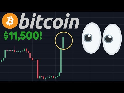 OMG!!! BITCOIN PUMPING NOW TO $11,500!!! | So I Was RIGHT After All?!!