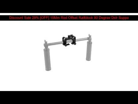 √ Best Discount 29% [OFF] 15Mm Rod Offset Railblock 90 Degree Dslr Support Set C0945 Camera Photogr