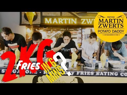 2KG of French Fries Eaten in 6 Minutes?!   Zermatt Neo versus Sarah Ow