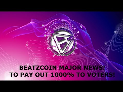 TRON PROJECT BEATZCOIN MAJOR NEWS! TO PAY OUT 1000% TO VOTERS!