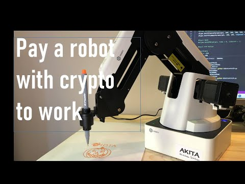 Pay a robot with crypto (IOTA) to work