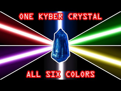 EASY Savi's lightsaber HACK! One Kyber Crystal – all six colors!